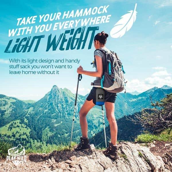 Hiking Hammock - Lightweight with hammock straps
